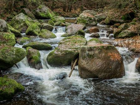 stream with running water Stock Photo