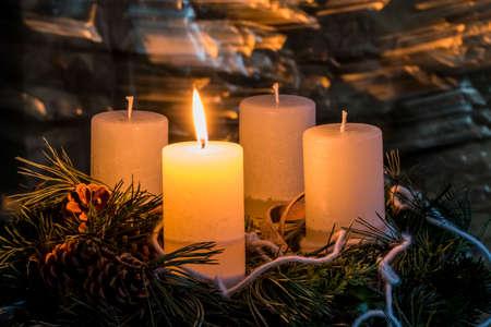 クリスマスのアドベント リース