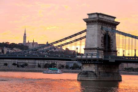hungary, budapest, chain bridge.