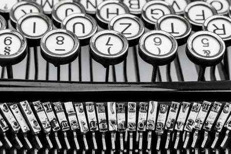 illiteracy: a typewriter keyboard Stock Photo