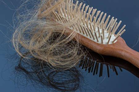 hair tuft: hair brush with hair
