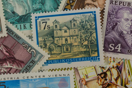 traveled: austrian stamps Stock Photo