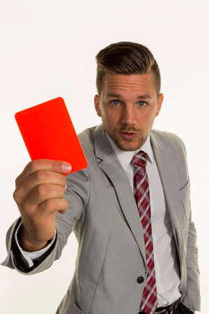 arbeitsrecht: manager with red card