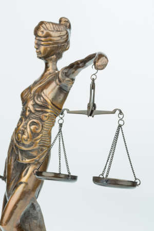 sculpture of justice Stock Photo