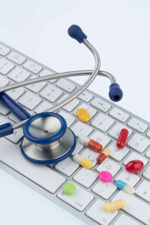 tablets op het toetsenbord