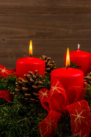 christmas candle: advent wreath for christmas
