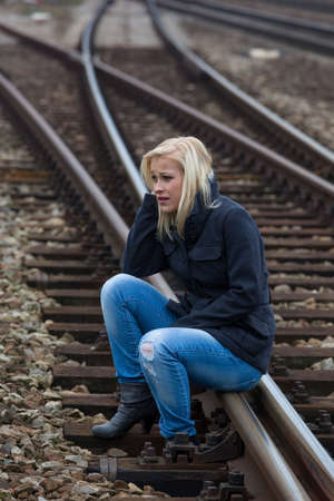 woman sad, anxious and depressed photo