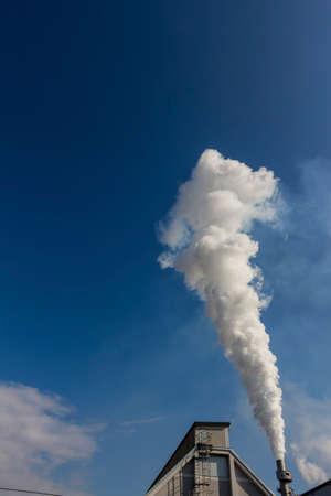 particulate: smoking chimneys Stock Photo