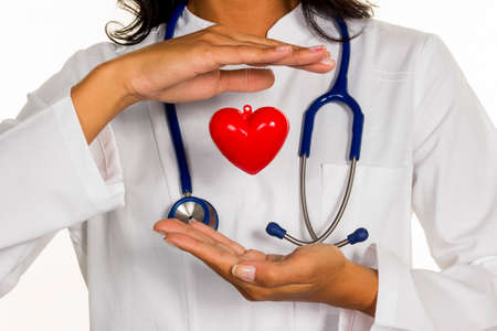internist with heart Stock Photo