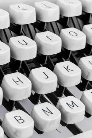 illiterate: a typewriter keyboard Stock Photo
