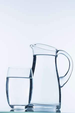 purely: pitcher of water