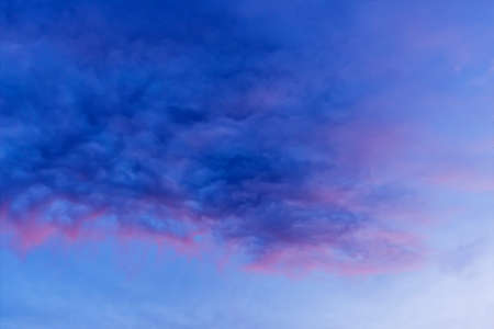 blue clouds in the sky Stock Photo