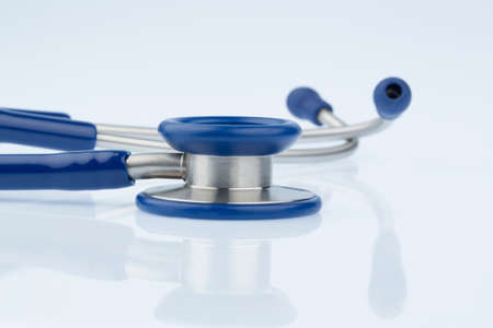 intercept: stethoscope against white background Stock Photo