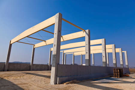 construction, commercial and production hall