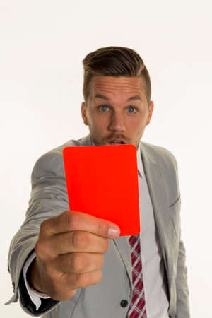 entlassen: manager with red card