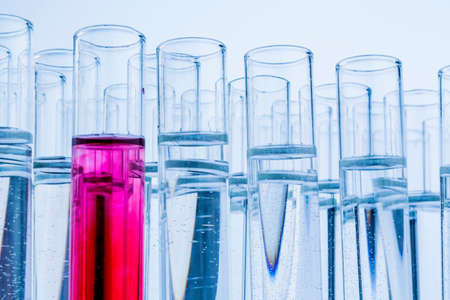 laboratory glassware in laboratory in chemistry lab Stock Photo