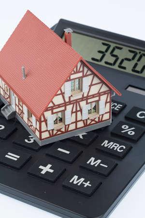 huis op de rekenmachine