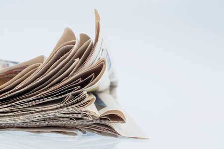 topicality: various newspapers Stock Photo