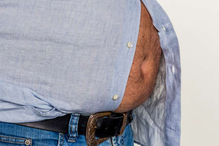 man with overweight photo