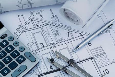 huisplan met calculator
