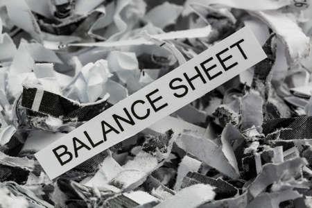 shredded balance sheet