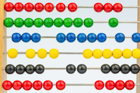 abacus with colorful beads Stock Photo