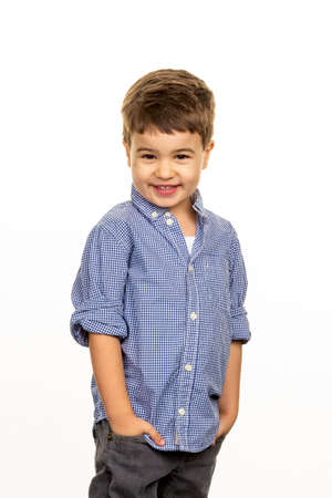 little boy in a pose Stock Photo