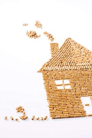 huis van pellets voor verwarming