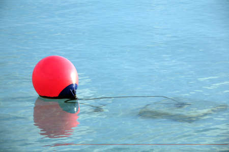 red buoy on the water