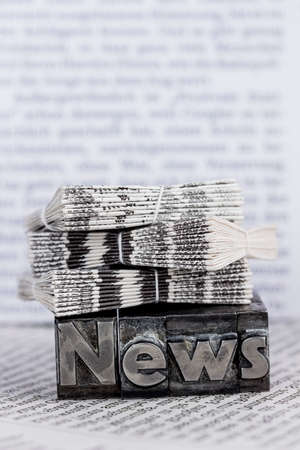 news in lead letters Banco de Imagens - 90144147