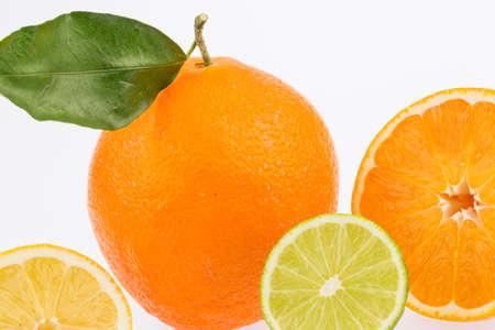 reflection of an orange Stock Photo