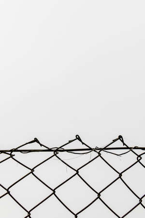 chainlink fence in front of white background