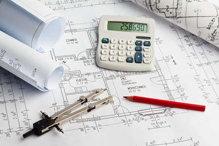 bouwplan van een residentieel gebouw. huis bouwen