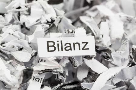 shredded paper keyword balance sheet