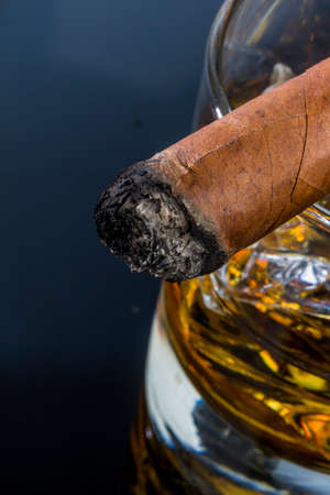banned: whiskey and cigar