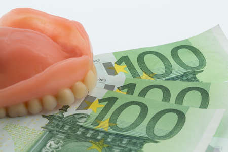 dentition and euro bills
