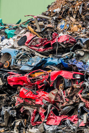 cars were scrapped Stock Photo