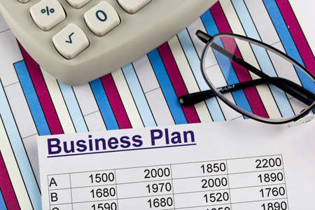business plan concept photo
