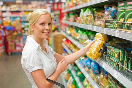 woman shopping in the supermarket