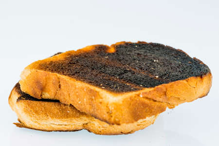 burnt toast slices of bread