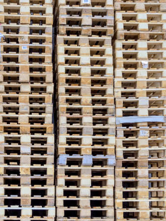 stacked transport pallets