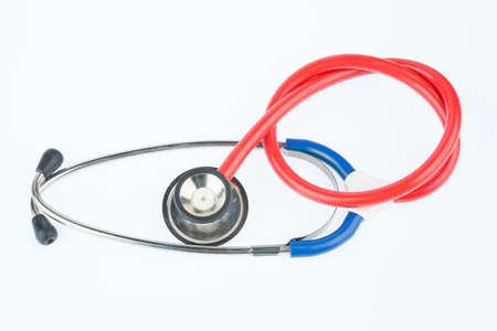 stethoscope in front of white background