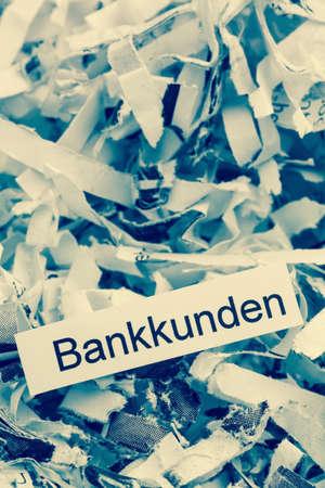 shred bank customers