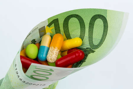 tablets and one hundred euro notes