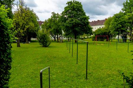 backyard with playground