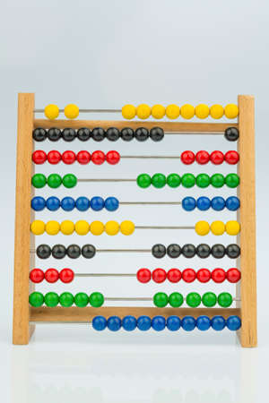 abacus with colorful beads