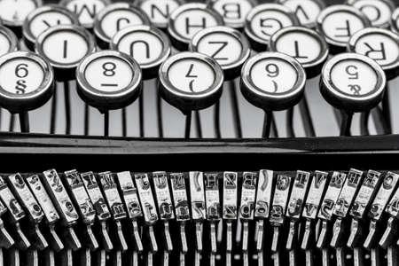 keyboard of a typewriter Foto de archivo