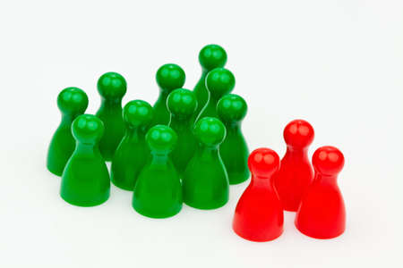 individuality in the team. be different. Stock Photo