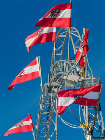 austrian flag Foto de archivo