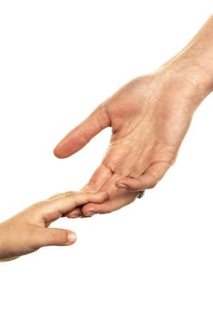 small and big hand Stockfoto - 95221797